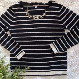J. Crew Factory Sweaters - Navy blue JCrew Factory stripe sweater